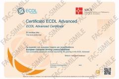 Certificato ECDL Advanced Databases