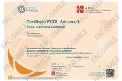 Certificato ECDL Advanced Presentation