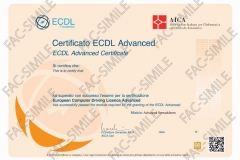 Certificato ECDL Advanced Spreadsheets