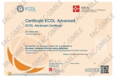 Certificato ECDL Advanced Word Processing
