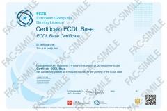 Certificato NUOVA ECDL Base