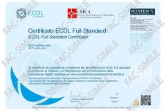 Certificato NUOVA ECDL Full-Standard