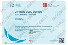 Certificato NUOVA ECDL Standard