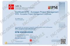 Certificato EPM Knowledge