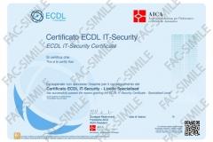 Certificato NUOVA ECDL IT - Securit