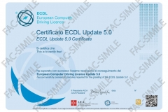 Certificato ECDL Update 5.0