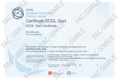 Certificato ECDL Start