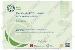 Certificato ECDL Health