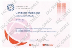 Certificato Multimedia Full