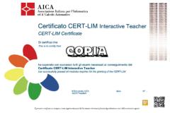 Certificato CERT-LIM Interactive Teacer